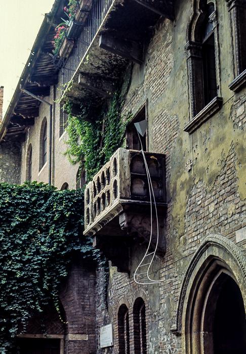 Centro Storico (Altstadt): Casa di Giulietta Verona 1982