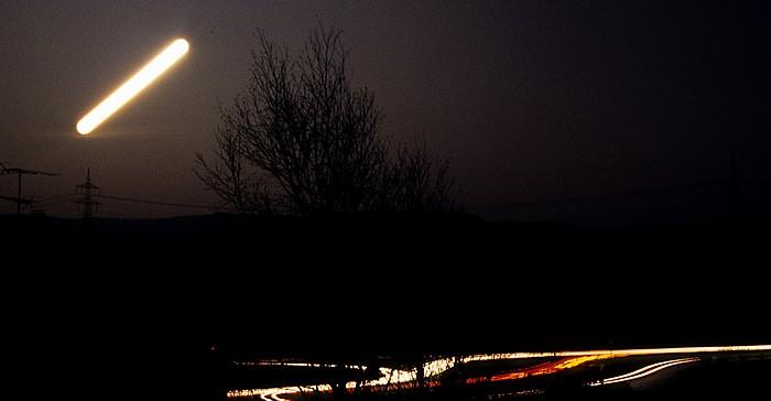 Pfohren Nächtlicher Mondaufgang Neudinger Weg
