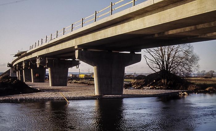 Bau der Donaubrücke Bundesstraße B 31/33 Donaueschingen 1983