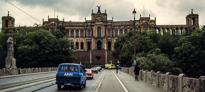 Maximiliansbrücke, Maximilianeum  München 1983