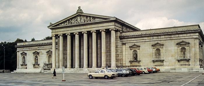 Maxvorstadt - Königsplatz (v.l.): Glyptothek München 1983