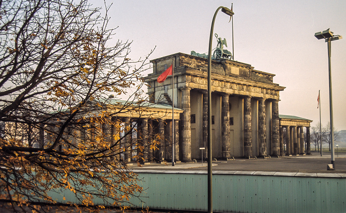 Brandenburger Tor, Berliner Mauer