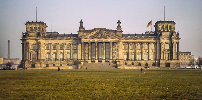 Reichstagsgebäude, Platz der Republik Berlin 1983