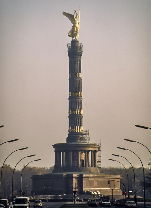 Großer Tiergarten: Siegessäule Berlin 1983