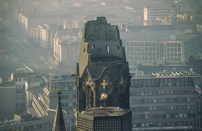 Blick vom Europa-Center Berlin 1983