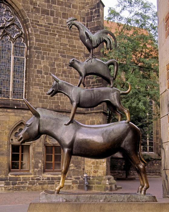 Bremen Marktplatz: Bremer Stadtmusikanten