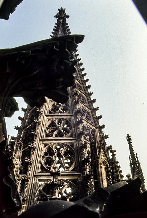 Kölner Dom: Nordturm (Maßwerkhelm) Köln 1984