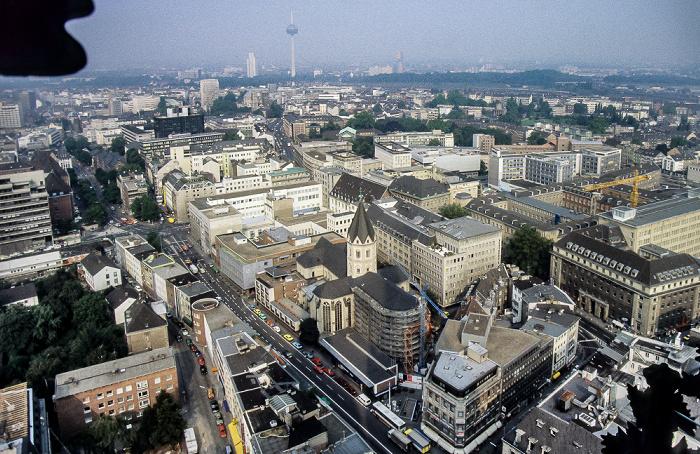 Blick vom Kölner Dom: Altstadt Köln 1984