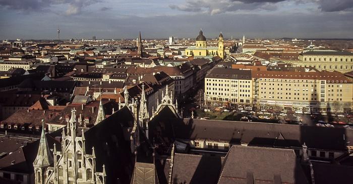 Blick vom Rathausturm (Neues Rathaus) München 1984