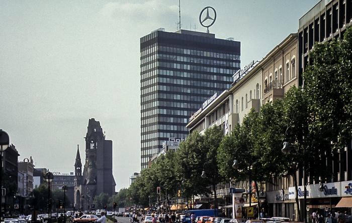 Charlottenburg: Tauentzienstraße, Kaiser-Wilhelm-Gedächtnis-Kirche, Europa-Center Berlin 1985