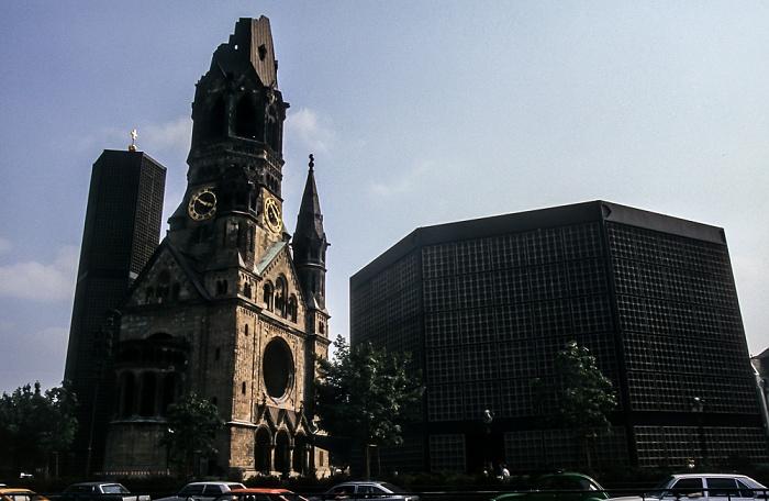 Charlottenburg: Breitscheidplatz - Kaiser-Wilhelm-Gedächtnis-Kirche Berlin 1985