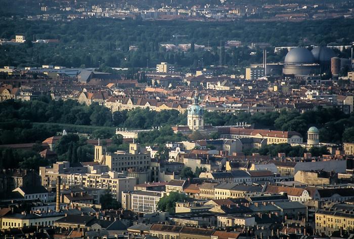Blick vom Funkturm: Charlottenburg Berlin 1985