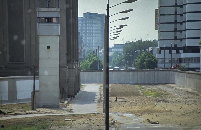 Potsdamer Platz, Wachturm, Berliner Mauer Berlin 1985