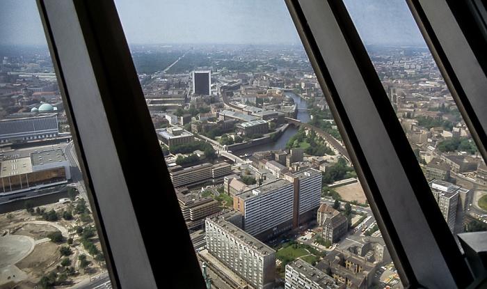 Blick vom Fernsehturm Berlin 1985