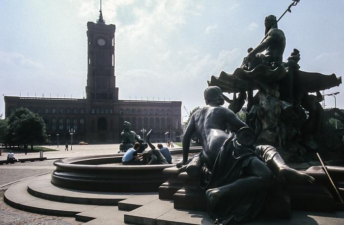 Neptunbrunnen, Rotes Rathaus Berlin 1985