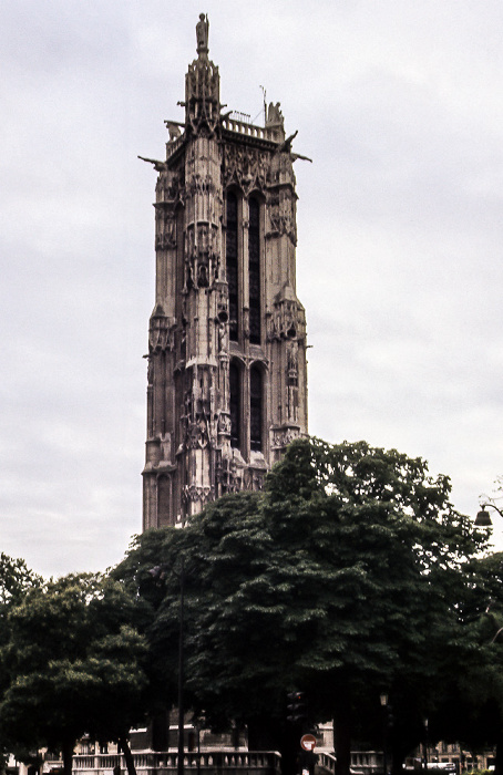 Square de la Tour Saint-Jacques: Tour Saint-Jacques Paris 1985