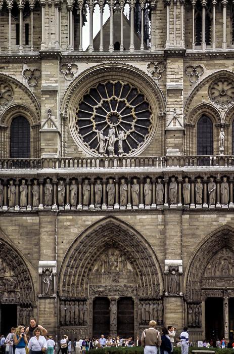 Île de la Cité: Notre-Dame de Paris - Westfassade Paris 1985