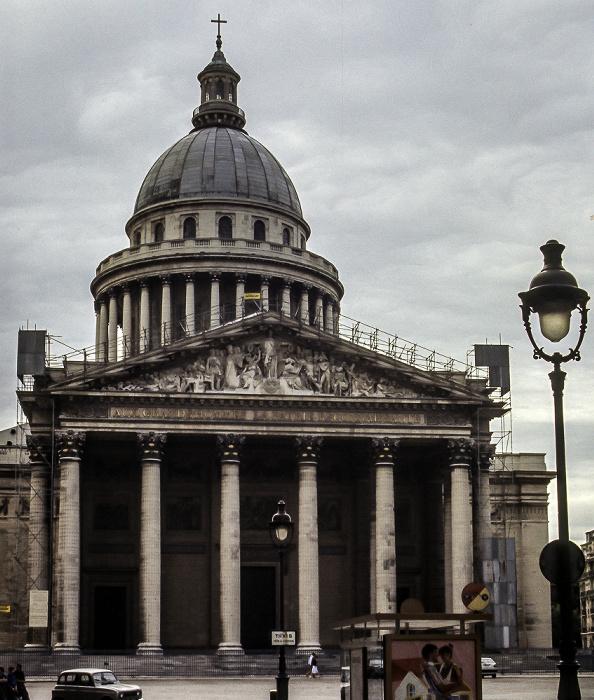 Quartier Latin: Place du Panthéon - Panthéon Paris 1985