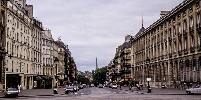 Quartier Latin: Place du Panthéon, Rue Soufflot Paris 1985