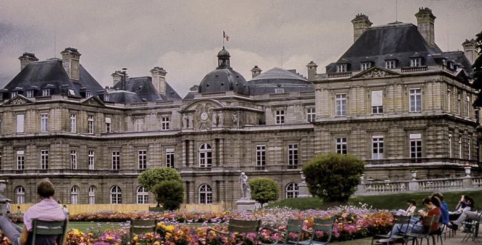 Jardin du Luxembourg und Palais du Luxembourg Paris 1985