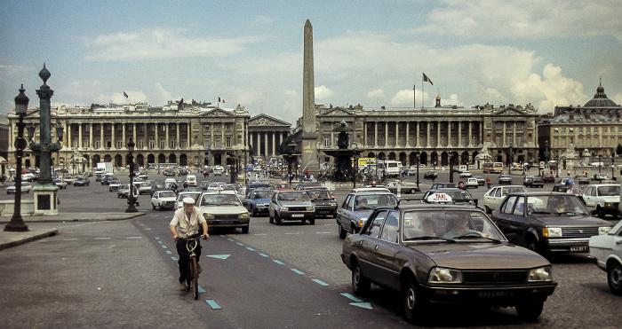 Place de la Concorde mit dem Obelisk von Luxor Paris 1985