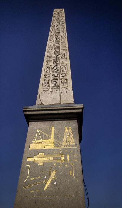 Place de la Concorde: Obelisk von Luxor Paris 1985