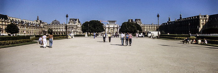 Musée du Louvre, Jardin des Tuileries Paris 1985