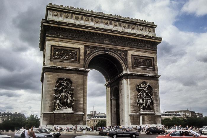 Place Charles-de-Gaulle: Arc de Triomphe Paris 1985