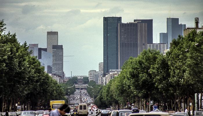 Avenue de la Grande Armée, La Défense Paris 1985