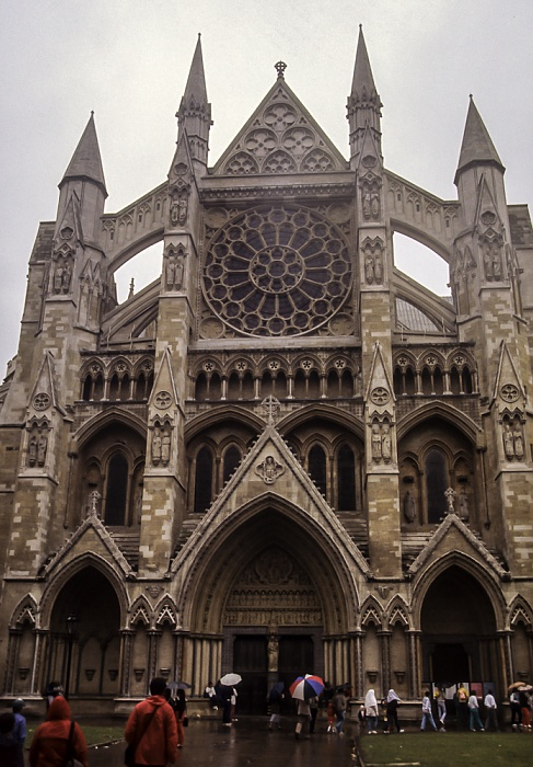 City of Westminster: Westminster Abbey - Nordportal London 1985