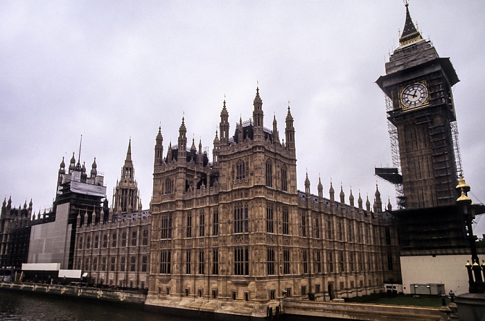 City of Westminster: Houses of Parliament, Big Ben London 1985