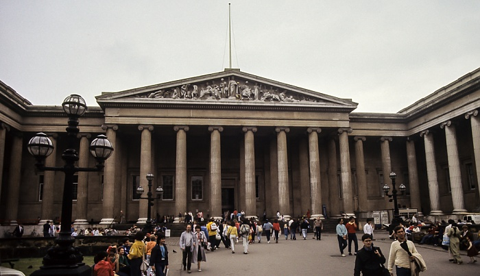 British Museum: Haupteingang London 1985