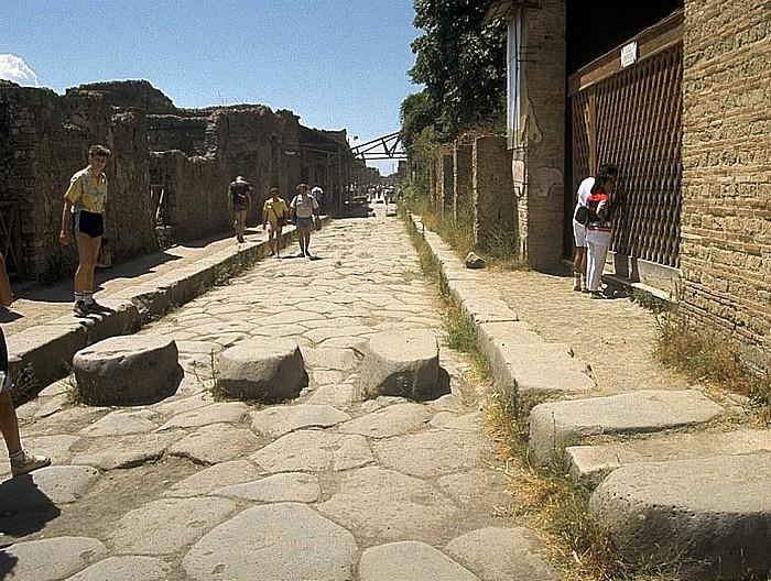 Pompeji Straßenzug Ausgrabungen