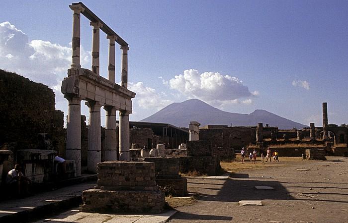 Pompeji Forum Ausgrabungen