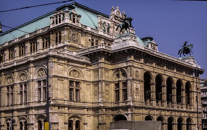 Innere Stadt: Wiener Ringstraße (Opernring) - Wiener Staatsoper Wien 1985