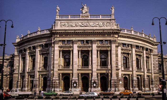 Innere Stadt: Wiener Ringstraße (Universitätsring) - Burgtheater Wien 1985