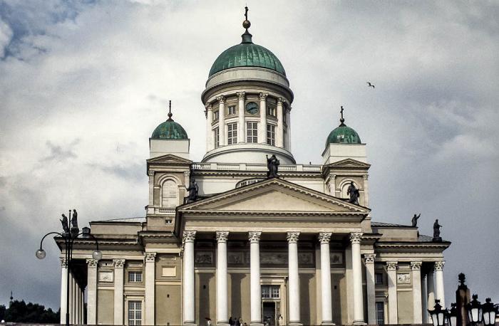 Kruununhaka: Dom von Helsinki (Helsingin tuomiokirkko) Helsinki 1986