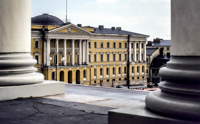 Kruununhaka: Senatsplatz (Senaatintori) - Hauptgebäude der Universität Helsinki (Helsingin yliopisto) Helsinki 1986