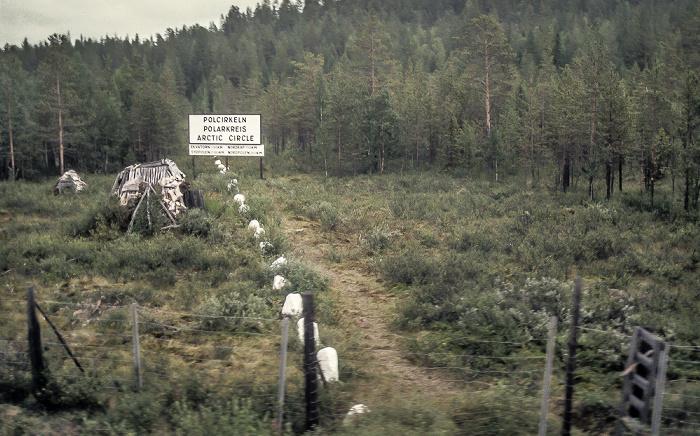Polcirkeln Polarkreisüberquerung zwischen Boden und Kiruna