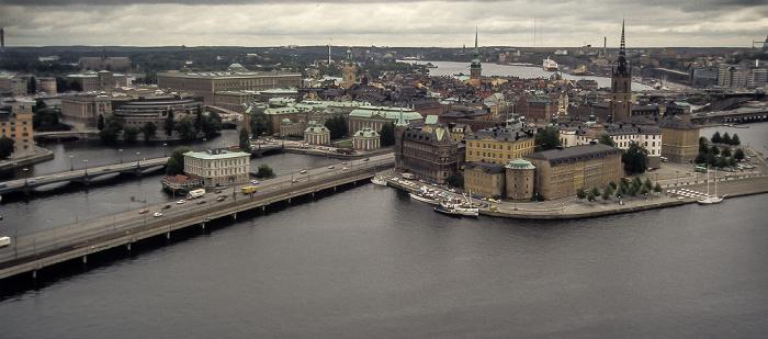 Blick vom Stadshuset (Rathaus) Stockholm 1986