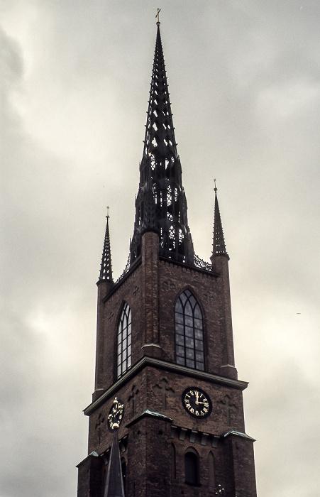 Altstadt Gamla stan: Riddarholmen - Riddarholmskyrkan (Riddarholmskirche) Stockholm 1986