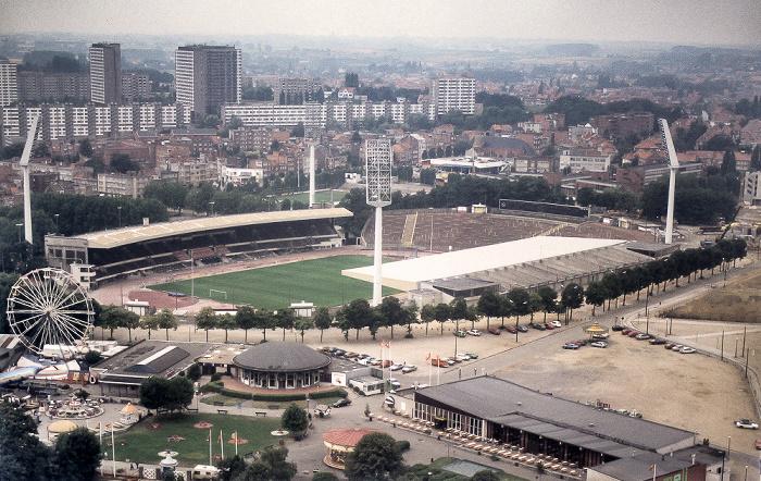 Brüssel Blick aus dem Atomium: Heysel-Stadion