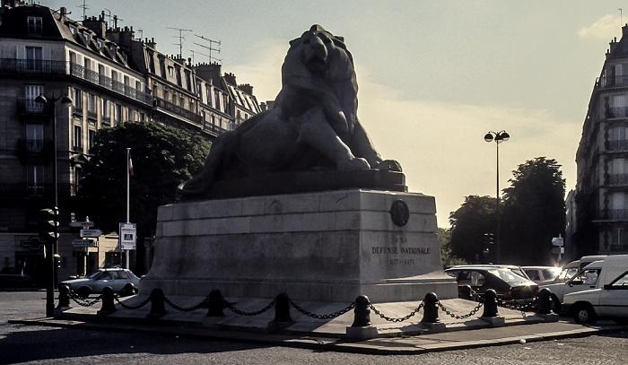 Montparnasse: Place Denfert-Rochereau - Lion de Belfort (Löwe von Belfort) Paris 1986