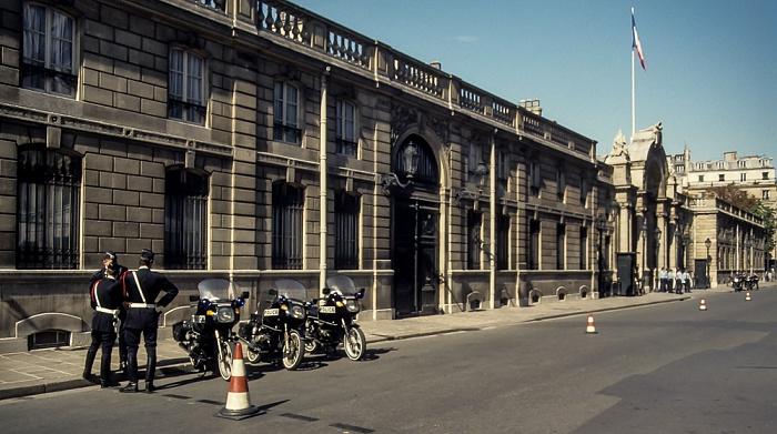 Rue du Faubourg-Saint-Honoré: Palais de l'Élysée (Élysée-Palast) Paris 1986