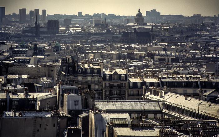 Blick von Montmartre Paris 1986