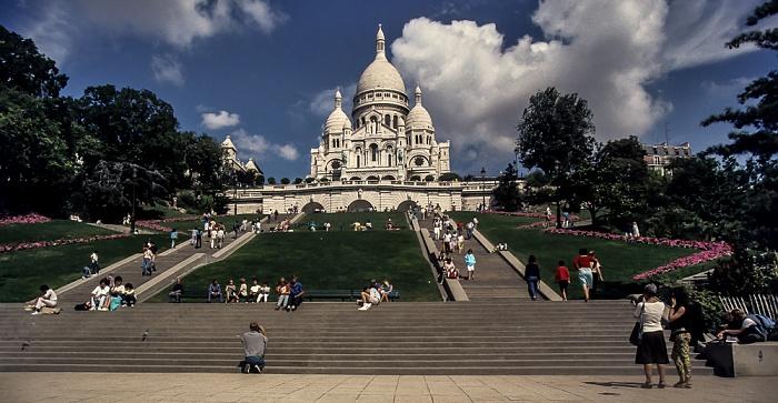 Montmartre: Square Louise-Michel, Basilique du Sacré-Coeur Paris 1986