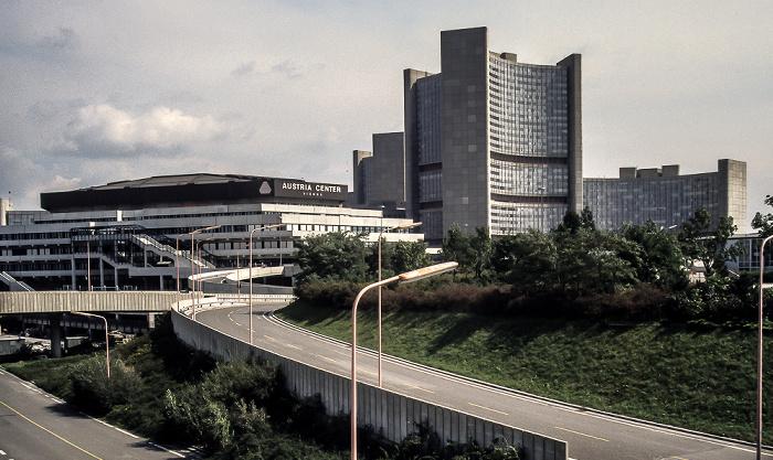 Donaustadt (XXII. Bezirk): Donau City - UNO-City mit Vienna International Centre Wien 1986