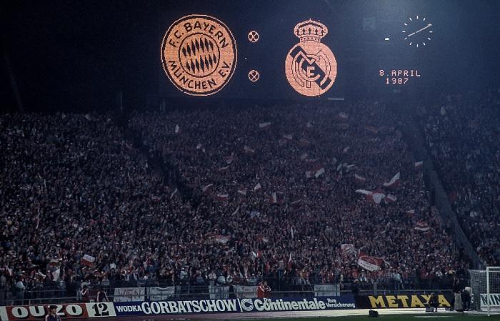 Olympiastadion: Europapokal der Landesmeister Halbfinalhinspiel FC Bayern München - Real Madrid München 1987