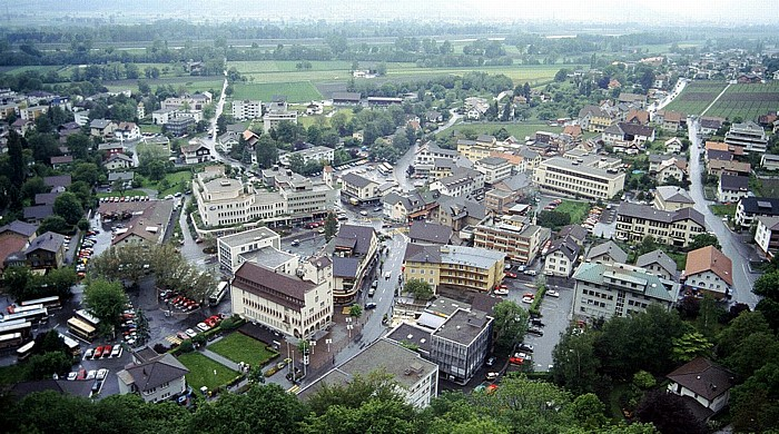 Vaduz Stadtzentrum Rathaus