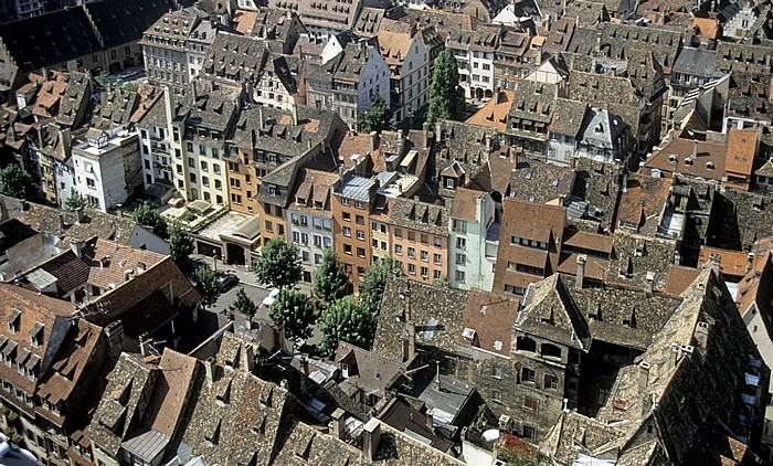 Blick von der Turmplattform des Straßburger Münsters (Cathédrale Notre-Dame de Strasbourg): Grande Île